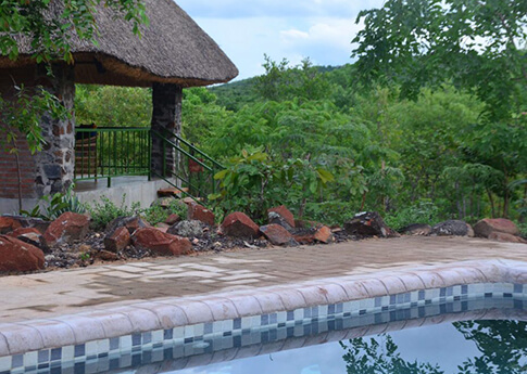 Swimming pool at Rafiki Malawi Safari Lodge